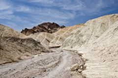 Wandernde Spur in Death Valley Stockbild