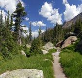 Wandernde Spur in den Kolorado-felsigen Bergen Stockfoto