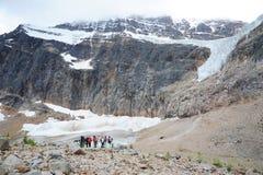 Wandernde Spur des Engels-Gletschers Stockbild