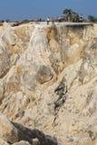 Wandernde Spur und Klippe Stockfoto