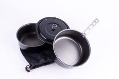 Wandernder Cookware auf Weiß Lizenzfreies Stockbild