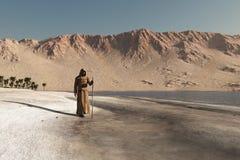 Wandernder Mönch Stockbild