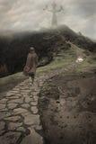 Wandernder Mönch Lizenzfreie Stockbilder
