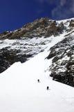 Wanderung auf dem Gletscher Stockfotografie