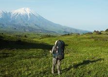 Wanderung auf Kamchatka Lizenzfreies Stockbild