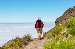 Wanderung auf Madeira lizenzfreie stockfotos