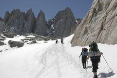 Wanderung bis zu Mt. Whitney Lizenzfreies Stockbild