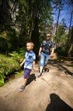 Wanderung in der Felsen-Stadt Adrspach Teplice Lizenzfreie Stockbilder