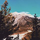 Wanderung durch Kananaskis-Berge stockfoto