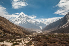 Wanderung Everest Nepal Stockfotografie