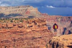 Wanderung im Grand Canyon Lizenzfreie Stockbilder