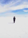 Wanderung im Salzsee Lizenzfreies Stockbild