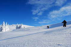 Wanderung im Winterberg Lizenzfreie Stockbilder