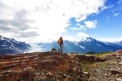 Wanderung in Kanada Stockbild