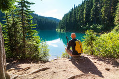 Wanderung in Kanada Lizenzfreie Stockbilder
