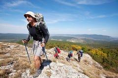 Wanderung in Krim Stockfotografie