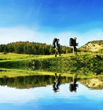 Wanderung in Krim Stockbilder