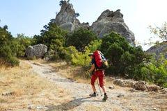 Wanderung in Krim Stockfoto