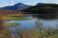 Wanderung in Lofoten Stockfoto