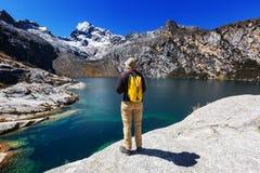 Wanderung in Peru Stockfoto