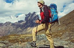 Wanderung in Peru Lizenzfreie Stockfotos