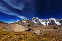 Wanderung in Peru Stockfotos