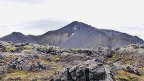 Wanderung Skalli - Landmannalaugar, kurze Wanderung nahe bis zum heißen Quellen stockfoto