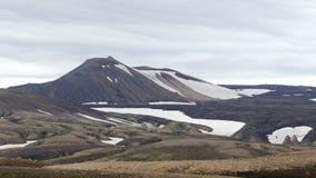 Wanderung Skalli - Landmannalaugar, kurze Wanderung nahe bis zum hei?en Quellen lizenzfreies stockbild
