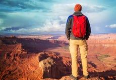 Wanderung in Utah stockbilder