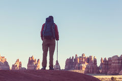 Wanderung in Utah Lizenzfreie Stockfotos