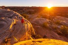 Wanderung in Utah Lizenzfreies Stockfoto