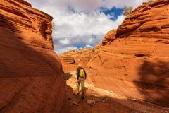 Wanderung in Utah Lizenzfreie Stockbilder