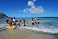 Wanderungfischen Lizenzfreie Stockfotos