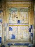 Wandfreskomalerei der THAILÄNDISCHEN ESARN berühmten einzigartigen Geschichte Mythos Stockfotos