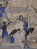 Wandfreskomalerei der THAILÄNDISCHEN ESARN berühmten einzigartigen Geschichte Mythos Stockbild