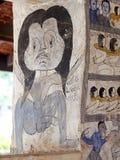 Wandfreskomalerei der THAILÄNDISCHEN ESARN berühmten einzigartigen Geschichte Mythos Stockfoto