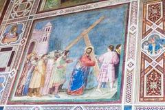 Wandfreskos in Scrovegni-Kapelle in Padua Lizenzfreies Stockbild