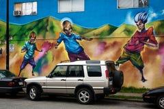 Wandgemälde auf einer Wand Stockfotografie