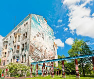 Wandgemälde auf Gebäude in Berlin Lizenzfreies Stockbild