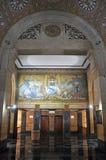 Wandgemälde in BüffelRathaus, New York, USA Lizenzfreie Stockbilder