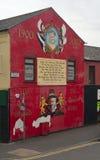 Wandgemälde in Belfast Lizenzfreie Stockfotos