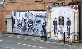 Wandgemälde in Belfast Lizenzfreies Stockfoto