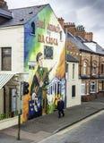 Wandgemälde in Belfast Lizenzfreies Stockbild