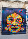 Wandgemälde in Berlin lizenzfreies stockbild