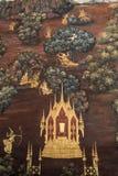 Wandgemälde in den buddhistischen Tempeln stockfotografie