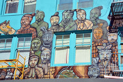 Wandgemälde der Terrakotta-Armee Stockfotos