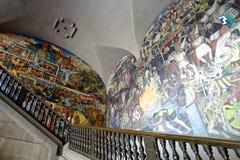 Wandgemälde durch Diego Rivera, Mexiko Lizenzfreies Stockbild