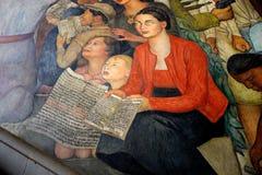 Wandgemälde durch Diego Rivera, Mexiko Lizenzfreie Stockbilder