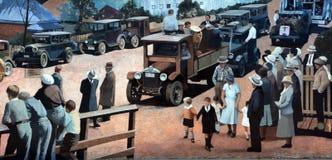 Wandgemälde erzählen die Geschichte von Chemainus Lizenzfreies Stockfoto