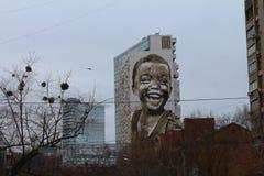 Wandgemälde - glücklicher Junge Graffiti, Bild Lizenzfreies Stockbild